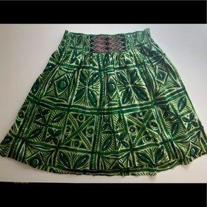 Batik print summer skirt